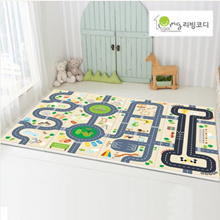 ★Folding Road Mat★Double Side/Playmat/Folding mattress/baby and kids safety mat/Playgym/Baby carpet/Made in korea