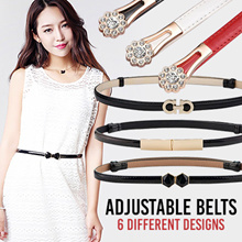 High Quality Adjustable Belts / Fashion Waist Belt / PU / Black / Casual Accessories