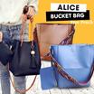[ NEW COLLECTION ] 2 STYLES BUCKET BAG / ALICE BUCKET BAG / KOREAN BUCKET BAG [ SHOULDER BAG / HANDBAG / TAS WANITA ]  GET FREE POUCH