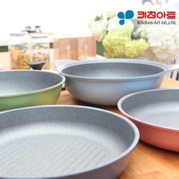Kitchen Art 1+1 LCH store Korean Stone Coating Pan and Wok Collections