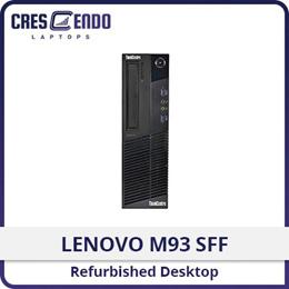 Refurbished Lenovo M93 SFF Desktop / Intel i5 / 4GB RAM / 500GB HDD/ Windows 10 / 1 Month Warranty