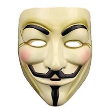 (Lantusi) Lantusi Anonymous Hacker Mask, V for Vendetta Halloween Masquerade Costume Cosplay-