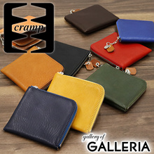 098ba2801e46 Clamp purse Cramp L letter zipper purse double fold wallet Italian Shrink  Leather real leather leather