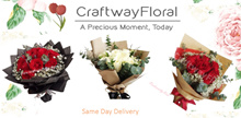 [CraftwayFloral] Fresh Flower Premium Roses Bouquet. Same Day Delivery/ Store Pickup