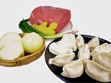 [YONGLE] Onion  Beef Dumplings (洋葱牛肉水饺) - 1kg Packs (approx 42 pcs) [FROZEN]