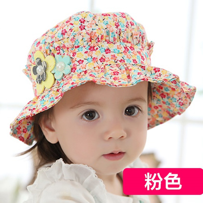 7cf8626ae2644 Baby Hat summer thin girl SUNCAP outing baby sun hat 1-2 year old children