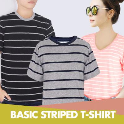 Buy Basic Striped T Shirt Man Design By Korea Round