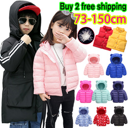 2019 Kids Winter Wear Duck Down Jackets/Light Baby Girl Boy Children Thermal Cotton Feather Wear Top