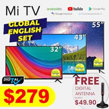 [LOCAL WARRANTY] Xiaomi Global ENGLISH Set Mi TV 32 / 43 / 55 INCH DVB-T2/C Voice Control 5G WIFI