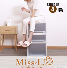[HOME ORGANIZATION]★CHEAPEST★💝BUNDLE of 4💝Many sizes!! STACKING DRAWERS/STORAGE BOX/DRAWER ORGNAIZ