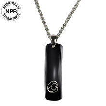 Noproblem 015 ion balance brand infrared power pendant tourmaline germanium necklace for men