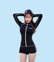 USRonnie Rashguard 3pc Set Women Swimming Wear Women Swimwear Women Swimming Suit