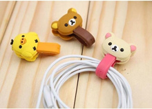 Cutie Bear Chicken Phone / MP3 / MP4 iPhone / iPad / Small cable Wire tie Organizer Wrap (1pc)
