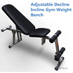 High End Foldable Multipurpose Utility Exercise Fitness Gym Bench - Purchase with Your Cart Coupon