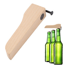 1pc Personalized Wood Nail Beer Bottle Opener Cap Opener Lid Remover Gift