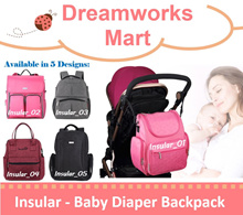 [INSULAR] Multi-functional Diaper / Stroller Backpack | Diaper Bag [5 Designs Available | FREE Gift]
