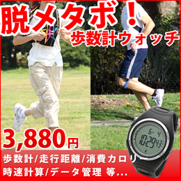 3Dセンサーを搭載した、歩数計付き腕時計 ウォーキングやジョギングにオススメ!【LAD WEATHER ラドウェザー PEDOMETER MASTER ペドメーターマスター lad011】