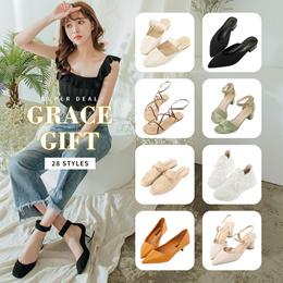 Gracegift-★CRAZY SALE★Best Seller Heels/Sandals/Sneakers/Flats/Women/Ladies Shoes/Taiwan Fashion