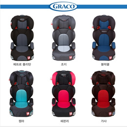 Graco Baby junior Multi Car Seat/RALLY SPORTS/High Back Turbo Booster Car Seat/3~12years old Multi/15kg~36kg Multi Seat/Step 6 height adjustment