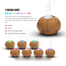 400ml Mist Humidifier Wood Grain Ultrasonic Aroma Essential Oil Diffuser