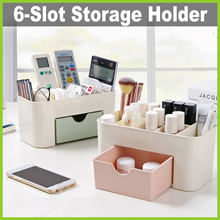 [Life+] 6-Slot Small Items Storage Holder  Remote Control  Cosmetics  Stationery  Tools