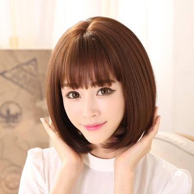 Qoo10 Dikalan Silk Air Bangs Wig Women Short Hair Fashion Bobo
