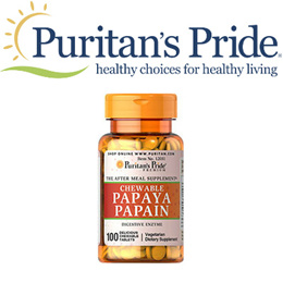 Puritans Pride Papaya Papain 5.7 mg / 100 Chewables