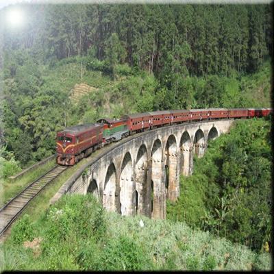 Rikki Knight RK-12intilec-9210 12 X 12 Vintage Train Crossing Bridge in  Mountains Design Ceramic Art