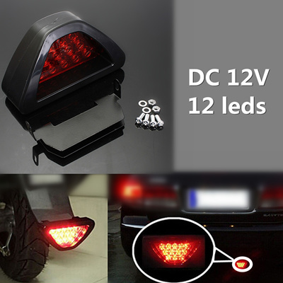 2 x Universal LED Rear Tail Third Brake Stop Light Strobe Safety Fog Lamp  F1 Style