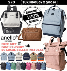 【SG DISTRIBUTOR Buy2FreeShipping】100% AUTHENTIC ANELLO BACKPACK BAG💕 luggage travel backpack