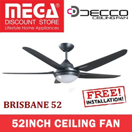 860137640g260 w stgg coupon decco brisbane 52inch ceiling fan with light free basic installation local warranty mozeypictures Choice Image