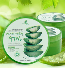[From JEJU island in South Korea] Aloe Vera Soothing Gel 97% 2+1 Promotion!(300ml+300ml+300ml)