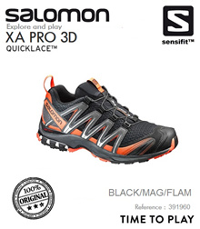 Salomon XA Pro 3D Trail Black/Mag/Flam. FREE SHIPPING!