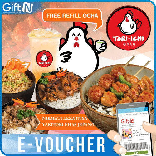 ?Tori-Ichi? Rp 50000 Value E-Voucher_Big Discount_Mobile Redemption Only Deals for only Rp50.000 instead of Rp50.000