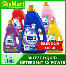Breeze Concentrated Liquid Detergent 3.8/4KG X 4
