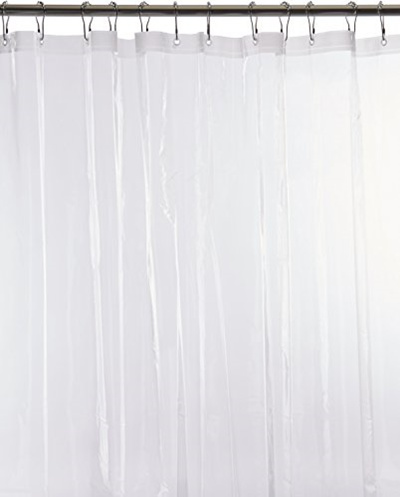 Popular Bath Heavy Weight Frosted Shower Curtain Liner Clear