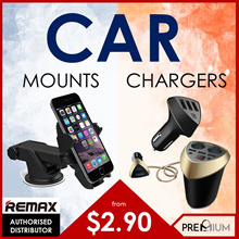 BASEUS REMAX Car Accessories Car Charger Car Mount Car Mobile Stand Car Holder Car Dock 3 USB Port