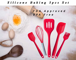[Kitchen Essential] 5Piece Silicone Set /spatula/silicone cookware/Bakingtool
