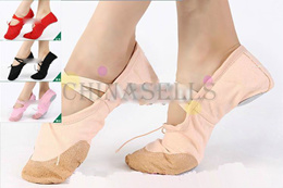 2pairs free ship girl women soft bottom ballet dance shoes Yoga fitness shoes