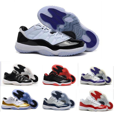 2016 Retro 11 LOW Basketball Shoes Concord Bred Space Jam Legend Blue  Basketball Sneakers Women Me 471022d1c6