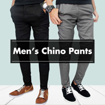 [ READY BIG SIZE ] MEN CHINO PANTS - HITAM // ABU ABU // MOCCA // CREAM READY SIZE 27-38