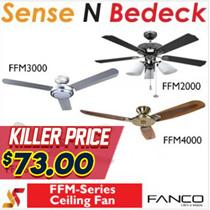Fanco Ceiling Fan FFM2000|FFM3000|FFM4000| FFM6000 | Light Kits+Remote+LED Bulb | Best Price!!