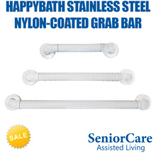 Stainless Steel Nylon-Coated Anti-Slip Grab Bar for Bathroom Toilet Safety Elderly Patient Senior