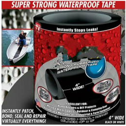 Flex Tape Rubberized Waterproof Tape 4 inches wide White or Black colour