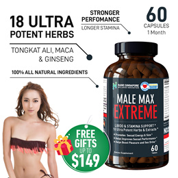MALE MAX EXTREME [60s]🔥Tongkat Ali + Maca + Ginseng + 19 All Natural Herbs 🔥 Booster