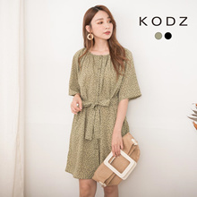 KODZ - Full Heart Breasted Dress with Tie-190928