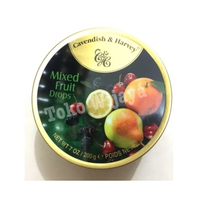 Permen Cavendish Harvey Mixed Fruits Drops
