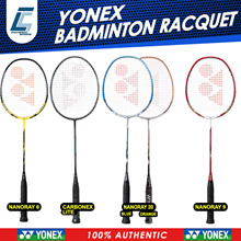 YONEX 100%AUTHENTIC BADMINTON RACQUET CARBONEX NANORAY CHAMPION CHOICE!! FREE!!! RACQUET FULL COVER