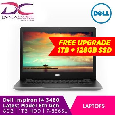 DELLBrand New DELL Inspiron 14 3480 | Latest 8th Gen INTEL CORE I7-8565U|  8GB Free Upgrade to 1TB HDD+ 128GB SSD| WIN 10 HOME|1 Year Premium Support|
