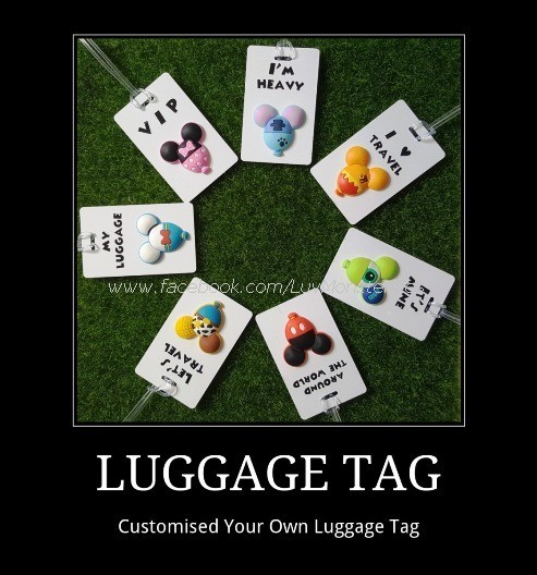 832a85340e2a ★ Customise 3D Luggage Tag ★ Tsum Tsum Luggage Tag ★ Baggage Tag ★ Best for  Wedding Gift ★ Present ★